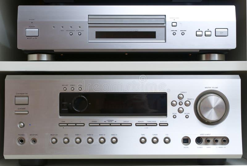 Sistema casero del cine imagenes de archivo