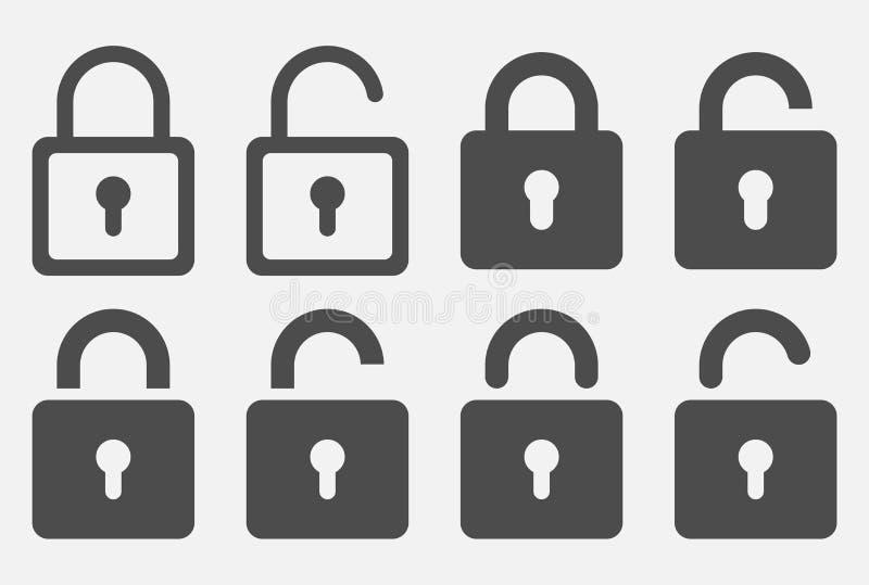 Sistema cerrado del icono aislado en el fondo blanco Ilustraci?n del vector fotografía de archivo libre de regalías