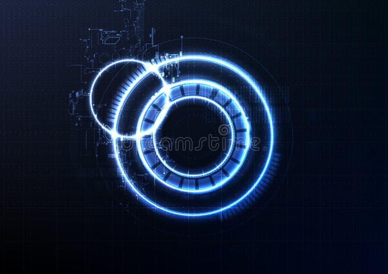 Sistema a circuito chiuso intelligente tecnologico ab di crittografia dell'interfaccia illustrazione di stock