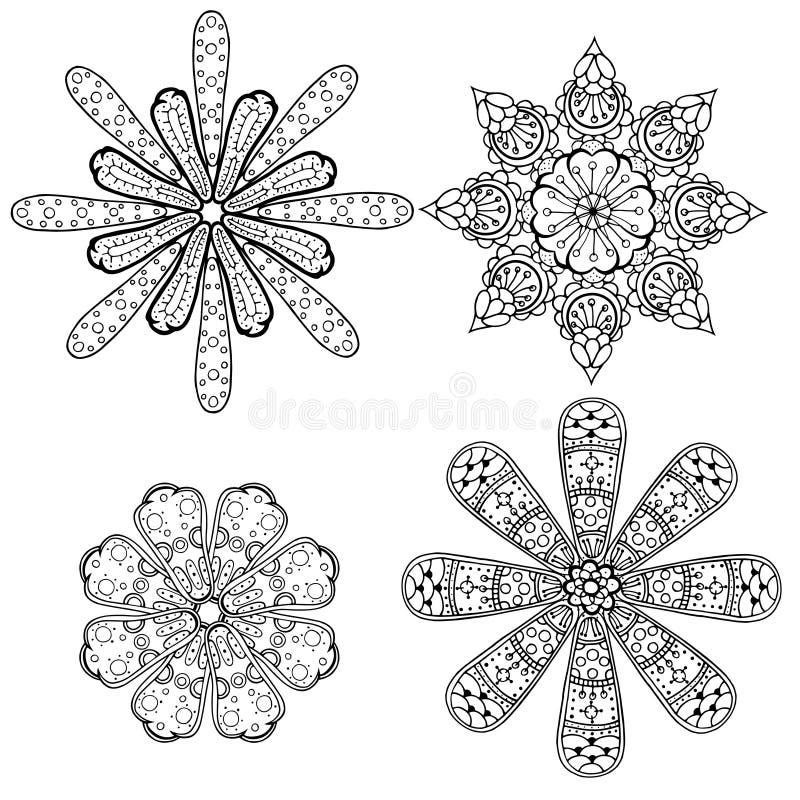 Sistema circular geométrico del ornamento libre illustration