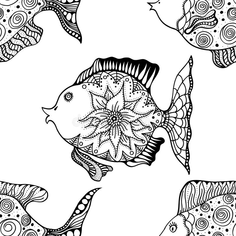 Sistema circular geométrico del ornamento ilustración del vector