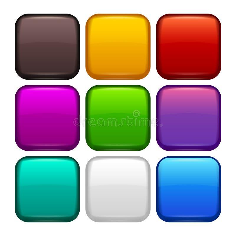 Sistema coloreado de las etiquetas libre illustration