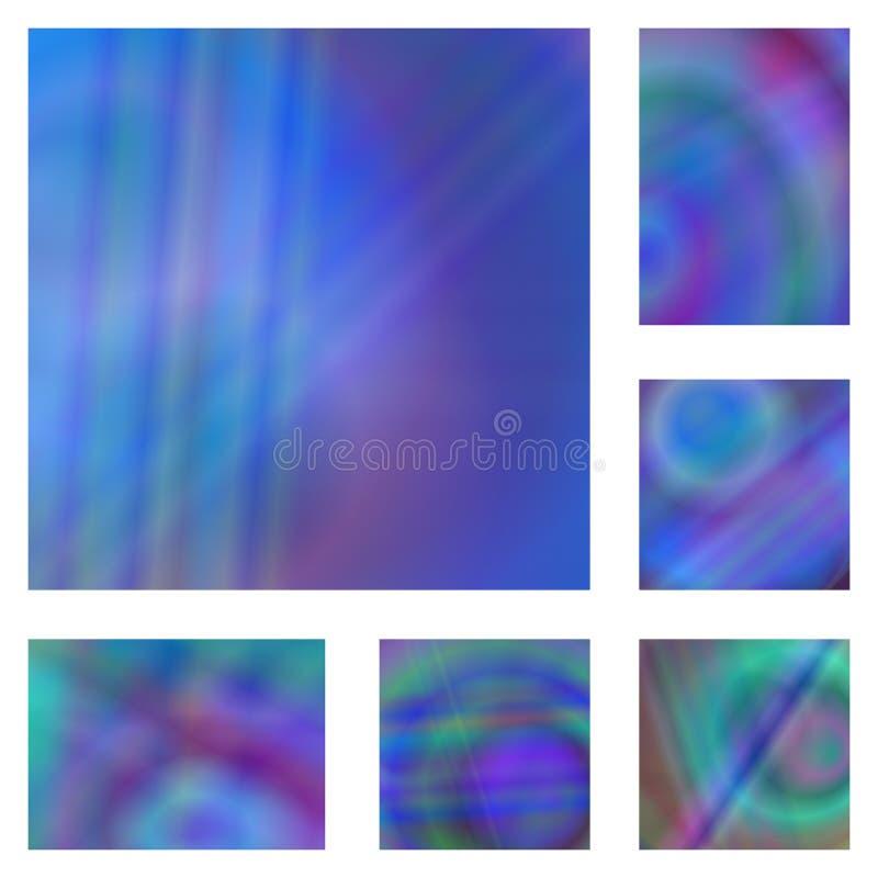 Sistema colorido azul del fondo del extracto de la pendiente ilustración del vector
