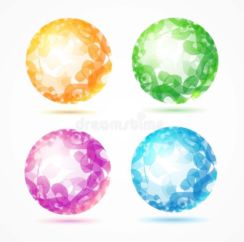 Sistema colorido de la esfera abstracta Vector stock de ilustración