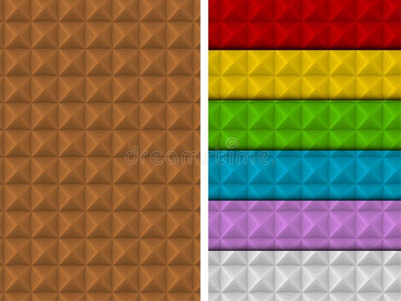Sistema colorido del modelo cuadrado inconsútil geométrico ilustración del vector