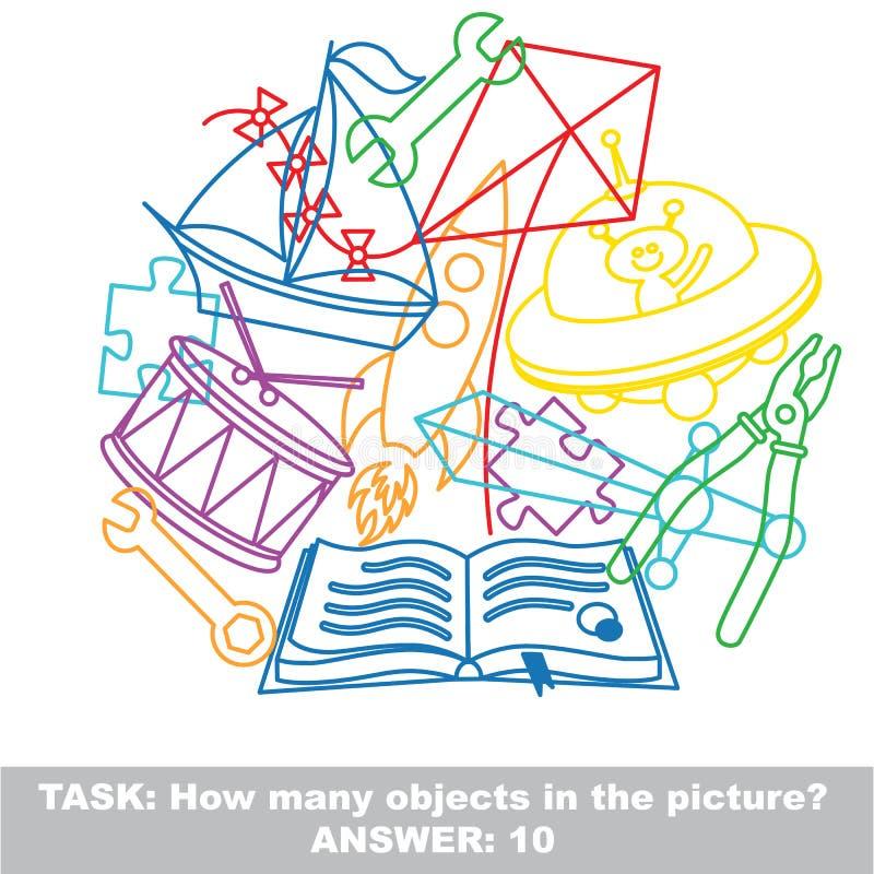 Sistema colorido del revoltijo del juguete del muchacho en vector libre illustration