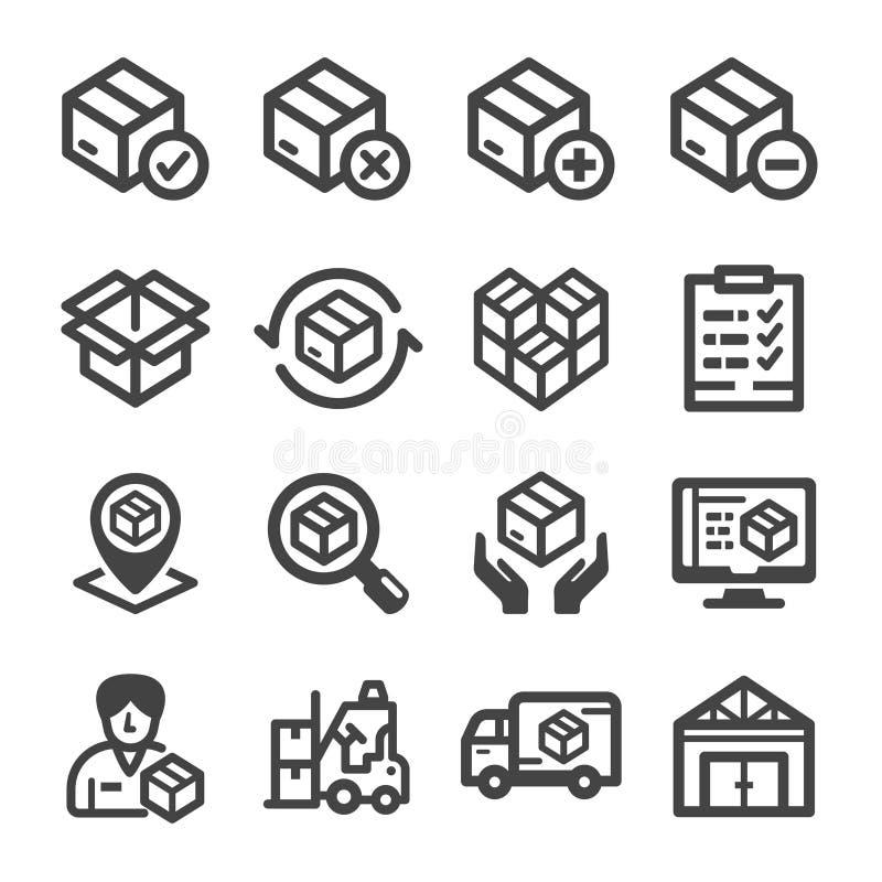 Sistema común del icono stock de ilustración