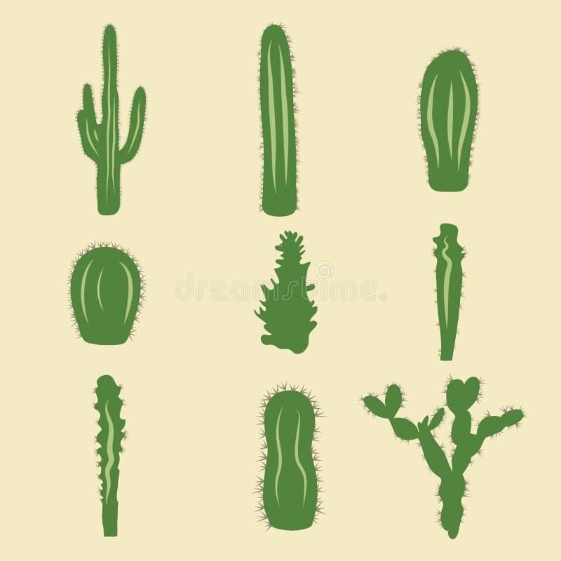 Download Sistema Común Del Vector De Iconos Del Cactus Ilustración del Vector - Ilustración de drenaje, colección: 44851258