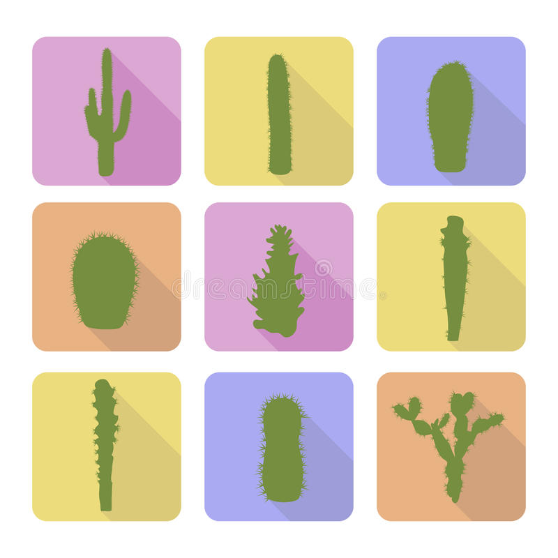 Download Sistema Común Del Vector De Iconos Del Cactus Ilustración del Vector - Ilustración de exótico, pintura: 44851262