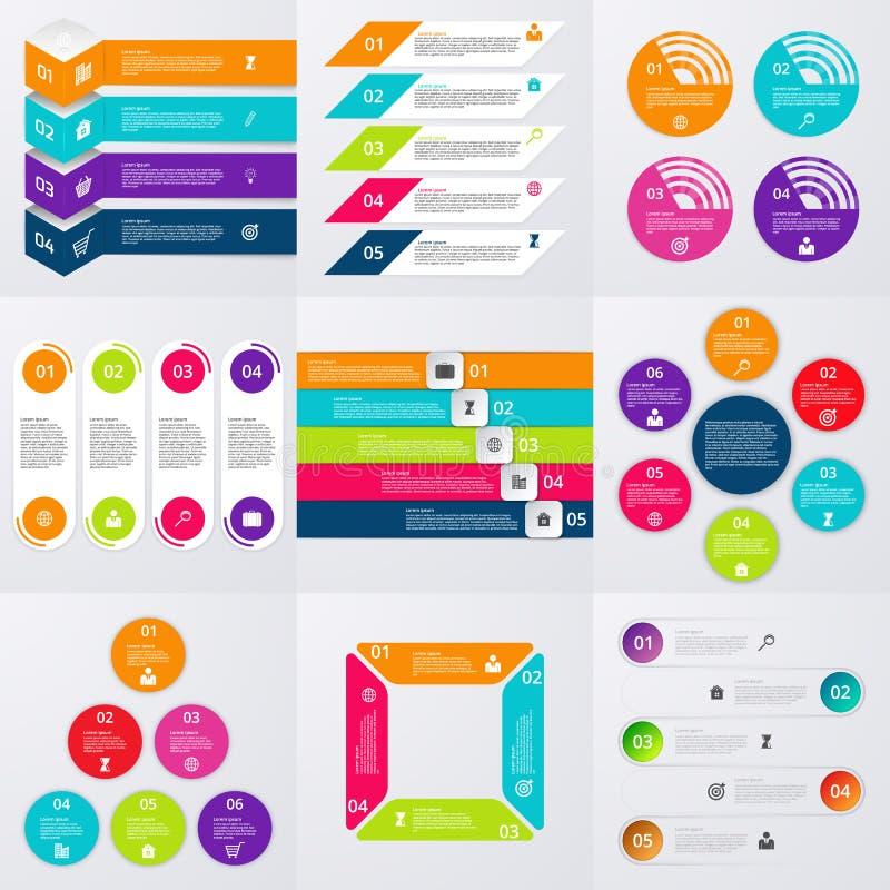 Sistema común del vector de infographics ilustración del vector