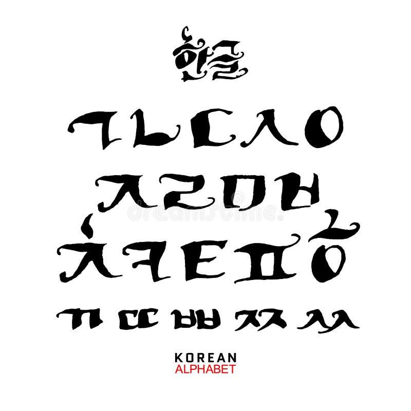 Sistema coreano del alfabeto fotografía de archivo libre de regalías