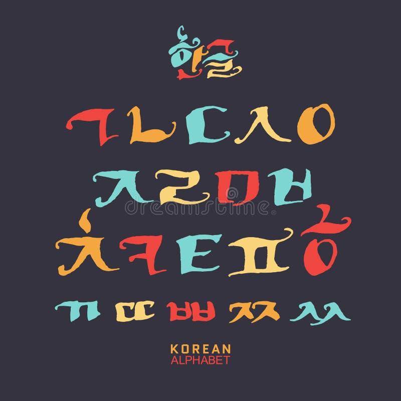 Sistema coreano del alfabeto foto de archivo
