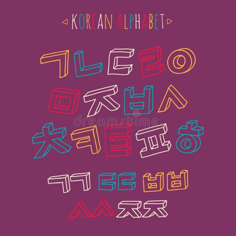 Sistema coreano del alfabeto libre illustration