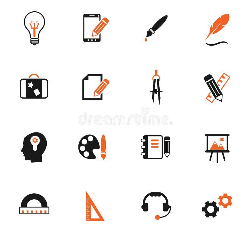 Sistema creativo del icono del color de proceso libre illustration