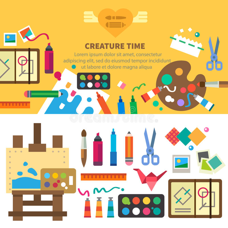 Sistema creativo para el artista Ideas, creatividad libre illustration