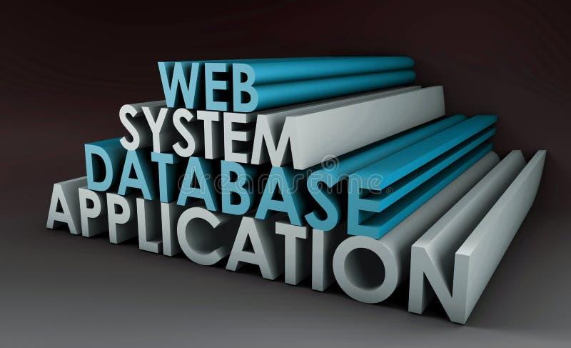 Sistema da aplicação web ilustração do vetor