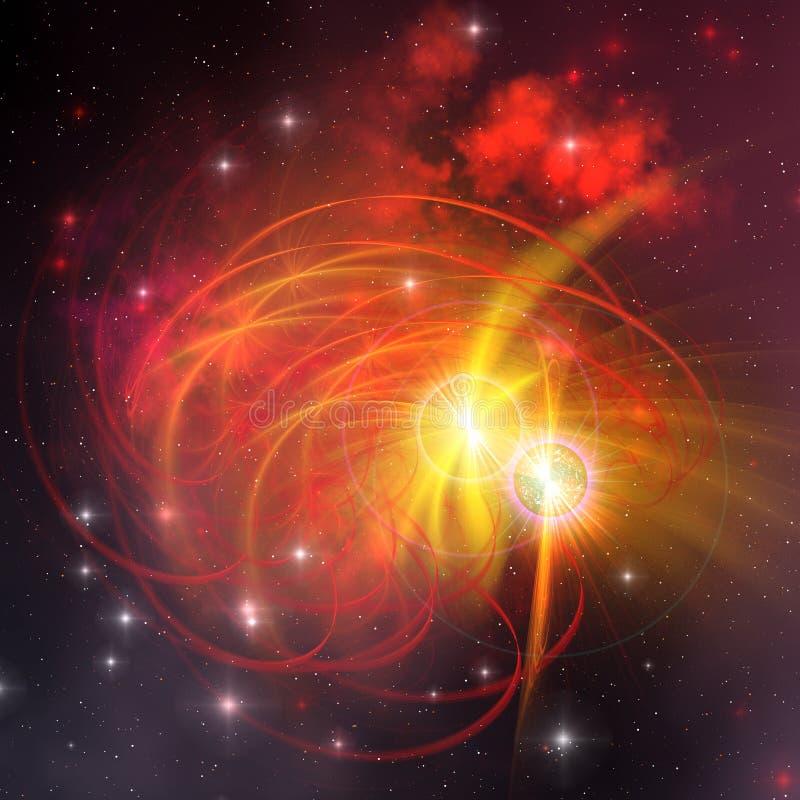 Sistema da estrela binária ilustração royalty free