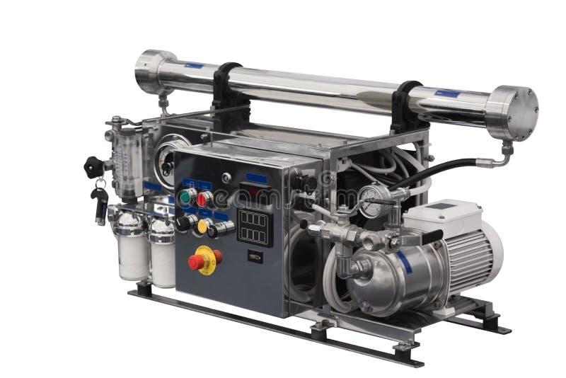 Sistema da osmose reversa para a água filtrada fotografia de stock royalty free