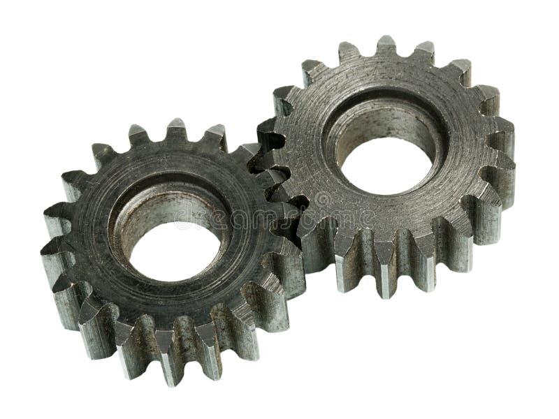 Sistema das rodas de engrenagem imagem de stock