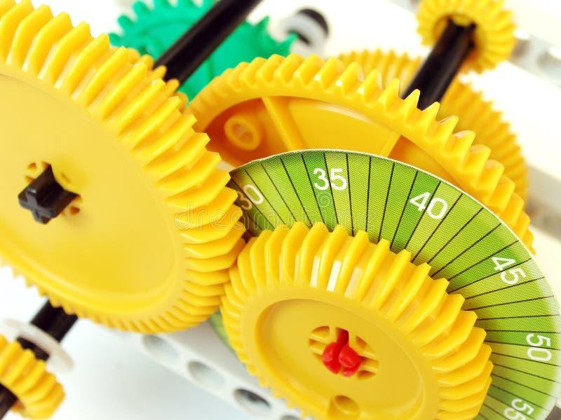Sistema das rodas denteadas e das engrenagens imagem de stock