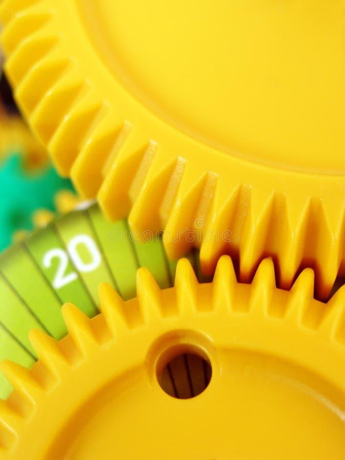 Sistema das rodas denteadas e das engrenagens imagens de stock royalty free