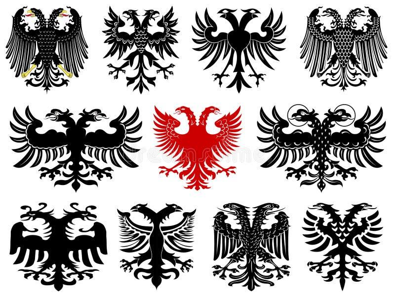 Sistema de águilas alemanas heráldicas imágenes de archivo libres de regalías