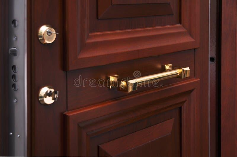 Sistema de aço da fechadura da porta fotos de stock royalty free