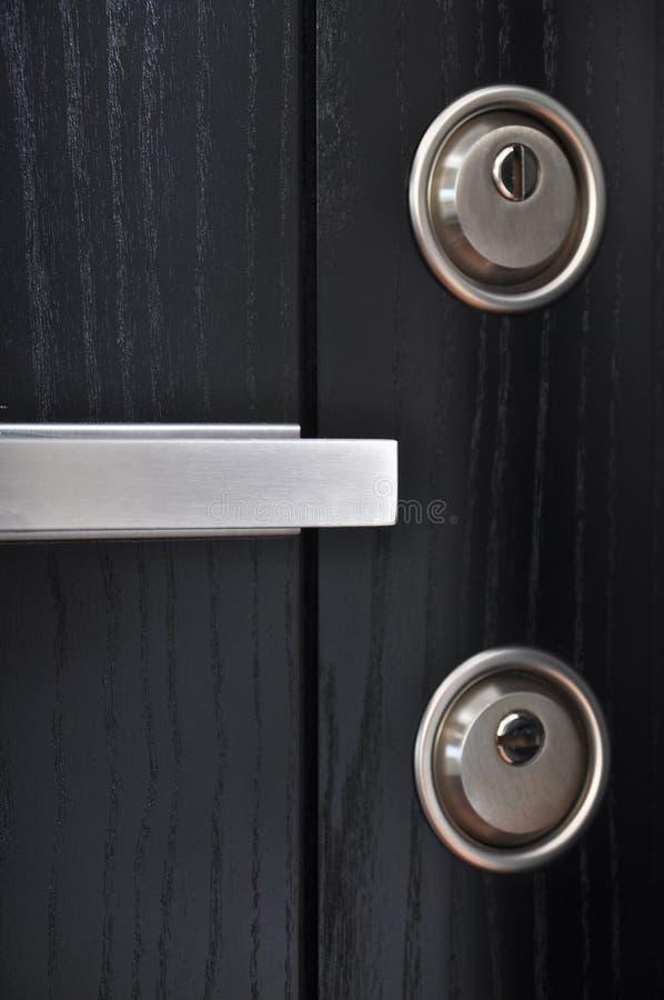 Sistema de aço da fechadura da porta imagem de stock