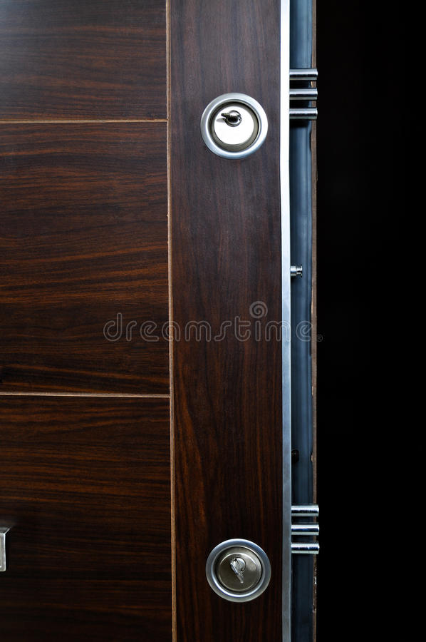 Sistema de aço da fechadura da porta foto de stock