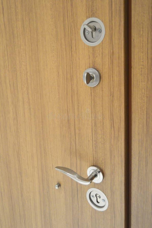Sistema de aço da fechadura da porta foto de stock royalty free