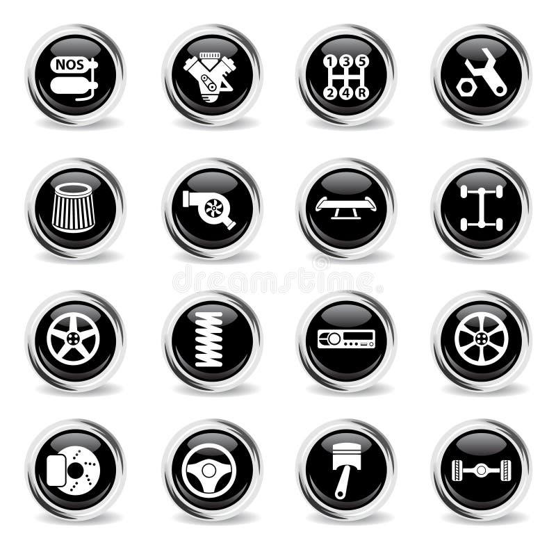 Sistema de adaptación auto del icono ilustración del vector