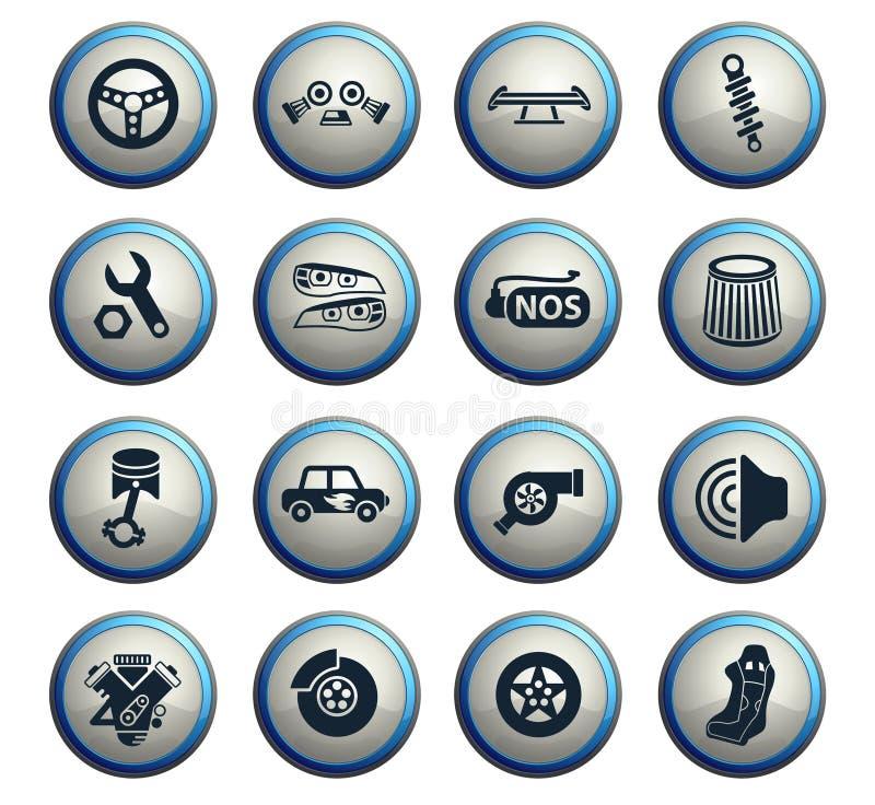 Sistema de adaptación auto del icono libre illustration