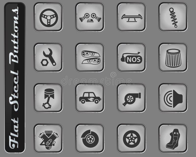 Sistema de adaptación auto del icono stock de ilustración
