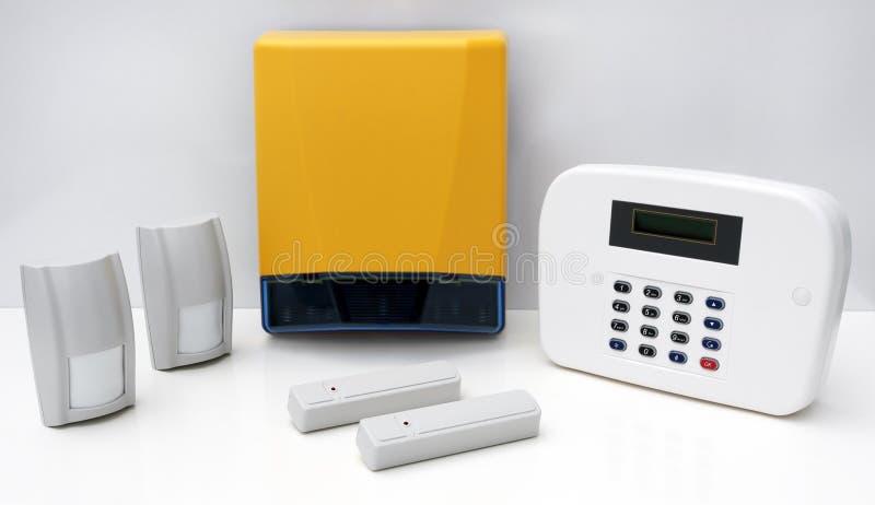Sistema de alarma de la seguridad casera   imágenes de archivo libres de regalías