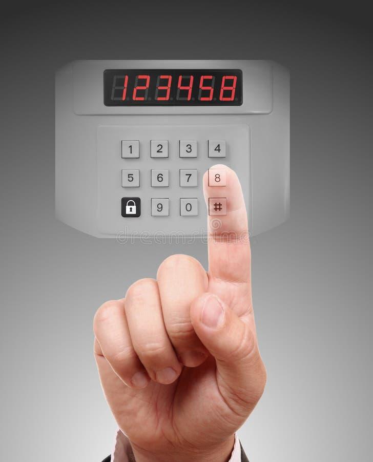 Sistema de alarme da segurança interna imagens de stock royalty free