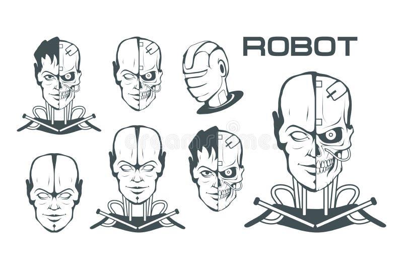 Sistema de Android Cara robótica Logotipo del robot para el diseño robótica libre illustration