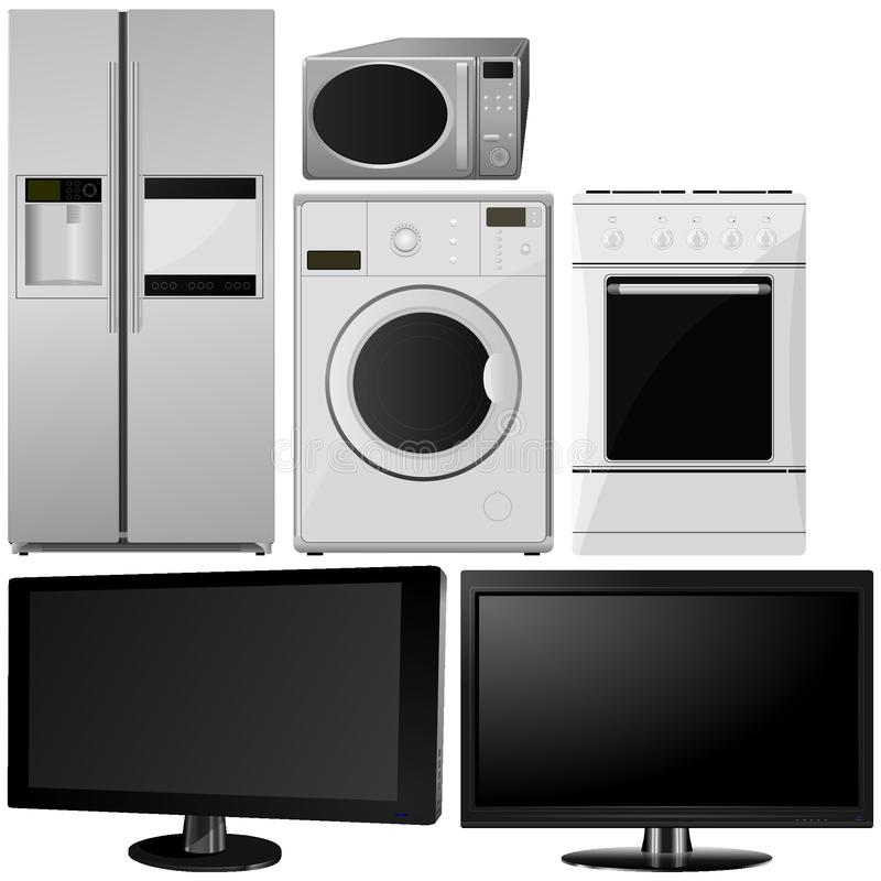 Sistema de aparatos electrodomésticos fotografía de archivo libre de regalías