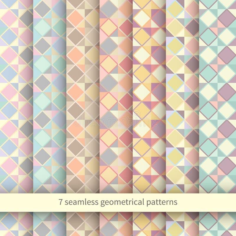 Sistema de Argyle Sweater Backgrounds inconsútil ilustración del vector