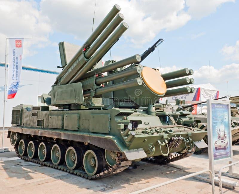 Sistema de armas Pantsir-S1 antiaéreo fotografia de stock
