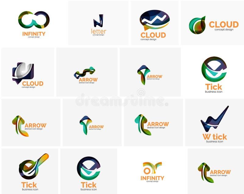 Sistema de autorización de la señal, de nube o de iconos del concepto de la flecha stock de ilustración