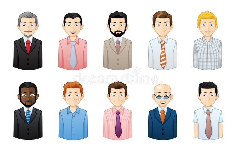 Sistema de Avatar de los hombres de negocios libre illustration