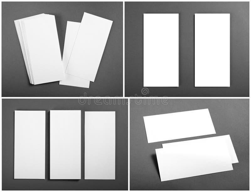 Sistema de aviadores blancos en blanco sobre fondo gris Diseño de la identidad fotografía de archivo