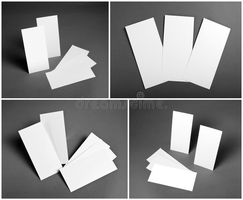 Sistema de aviadores blancos en blanco sobre fondo gris Diseño de la identidad imagen de archivo