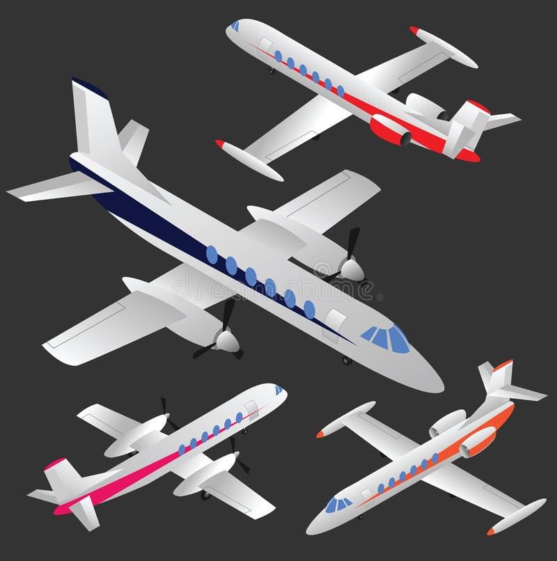 Sistema de aviones del vector ilustración del vector