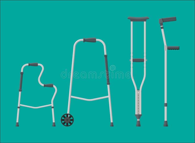 Sistema de ayudas de la movilidad ilustración del vector