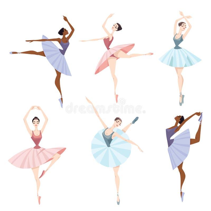 Sistema de bailarines de ballet fotografía de archivo