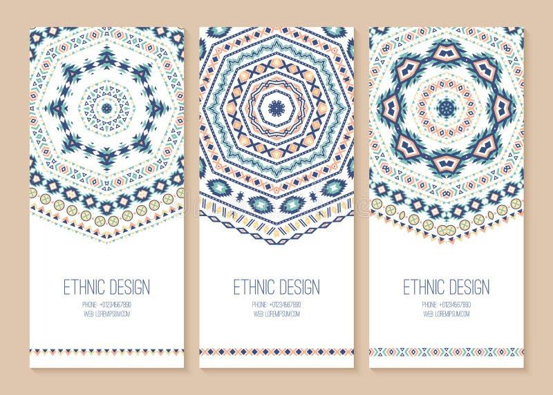 Sistema de banderas étnicas stock de ilustración