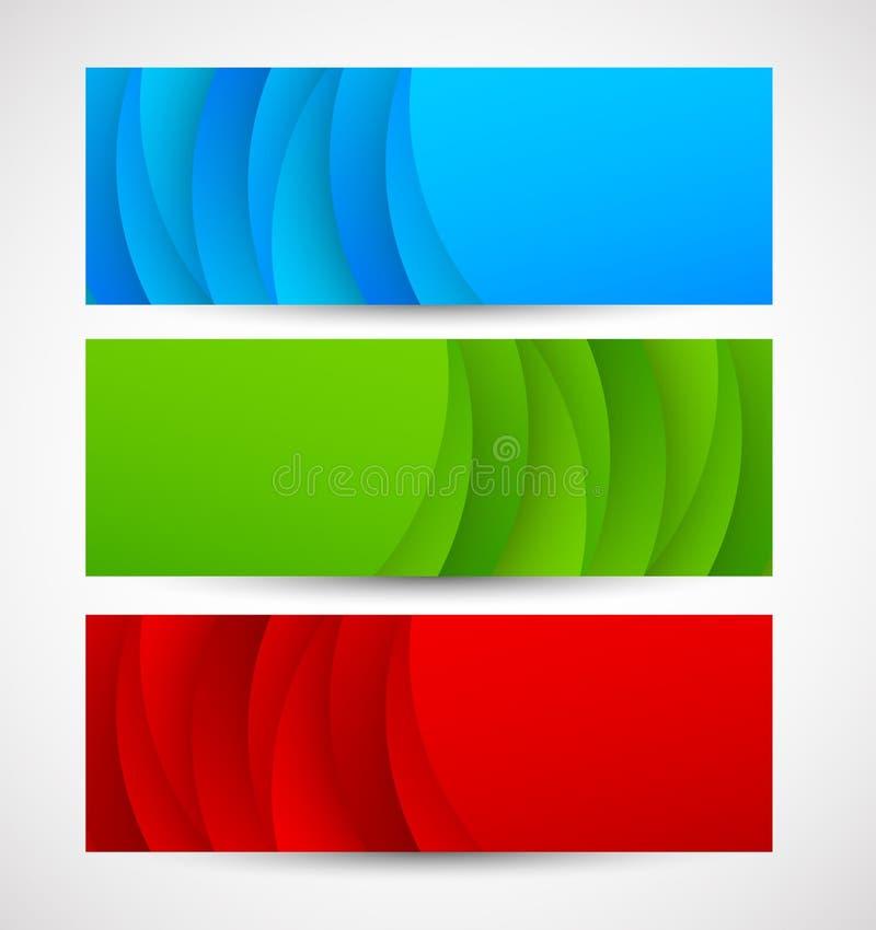 Sistema de banderas abstractas ilustración del vector