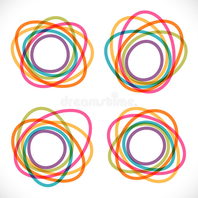 Sistema de banderas abstractas redondas coloridas libre illustration