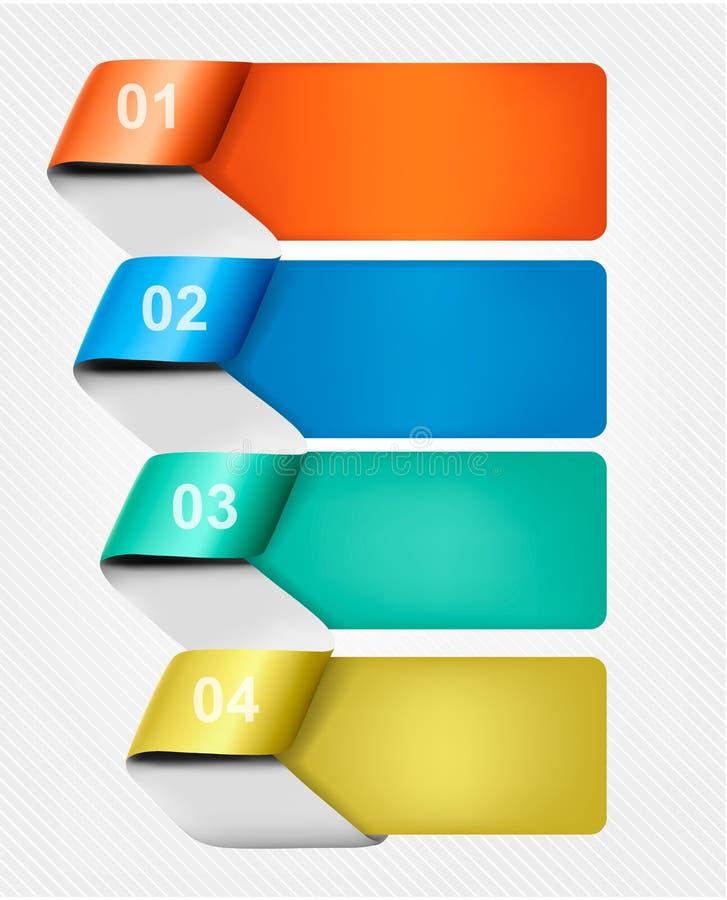 Sistema de banderas de los gráficos del Info con números libre illustration